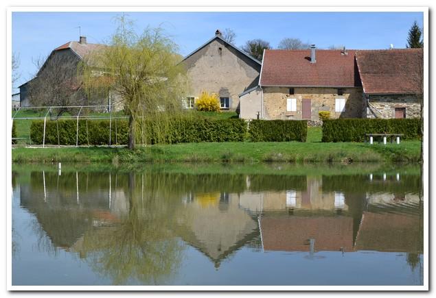 Mooi gelegen dorpswoning met uitzicht op vijver, Haute-Marne, Frankrijk