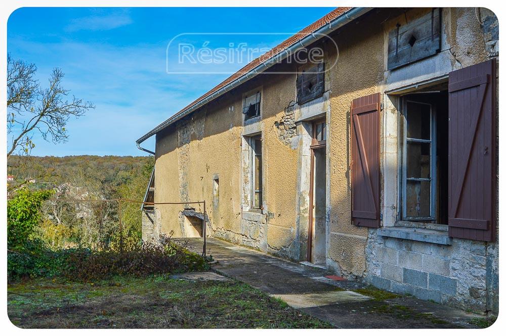 Grote vrijstaande dorpsboerderij met terrein en mooi uitzicht, Haute-Marne, Frankrijk